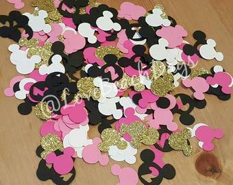 2nd Birthday Minnie Mouse Confetti: Second Birthday  Disney Confetti 200 Pieces