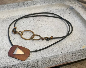 Video play button Pendant necklace on cord
