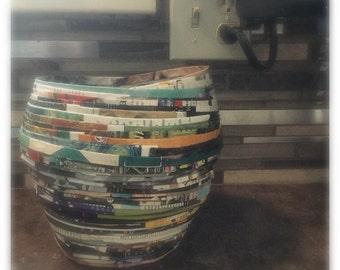 decorative paper magazine bowl
