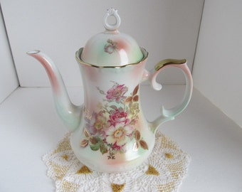Schumann Azberg Wild Rose Blush Coffeepot - Bavaria #44