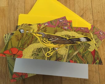 Bird and Moth Boxed Blank Note Cards