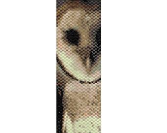 "Peyote Bracelet Pattern Owl ""The Guardian"""