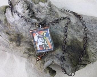 Custom pet portrait pendant or painting
