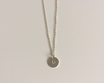 Initial necklace | Single Disc Sterling Silver Necklace | Mothers Day Gift | Personalised necklace | Custom made jewellery | Bridesmaid Gift