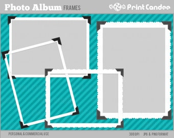 70% OFF SALE! - Photo Album Frames - Personal and Commercial Use - digital clipart frames clip art