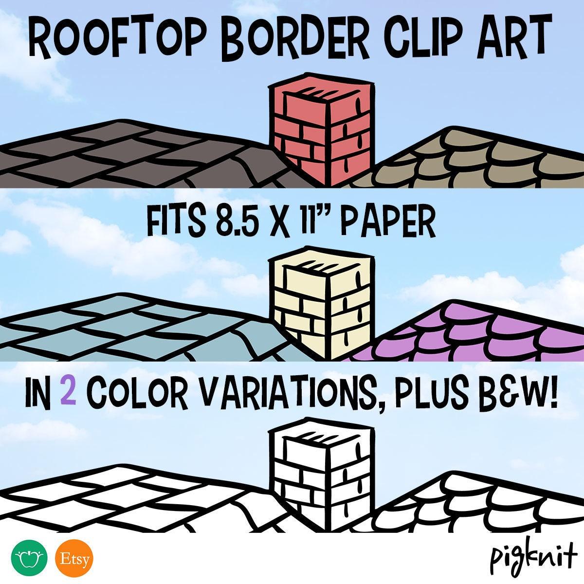 Dach-Grenze-Clip-Art auf dem Dach Clipart Dach Hintergrund