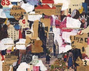 Market Garden - original mixed media collage
