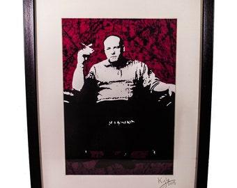 Tony Soprano - The Sopranos, signed art canvas print - Framed. From an original painting by Kyle Maclennan/Headon Art