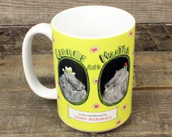 George and Martha Hippopotamus coffee mug Kids Book Gifts under 20 Librarian Gifts for Teachers Tea 15 oz ceramic mug James Marshall Bookish