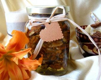 Edible Gift Ideas,  Raw Honey & Pecans Jar, Edible Gift