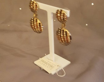 Swarovski Glamour earrings - Zoe 1926 gold topaz