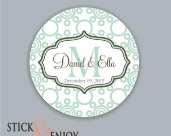 Custom Waterproof Wedding Stickers, Personalized Wedding Labels, Favor labels stickers