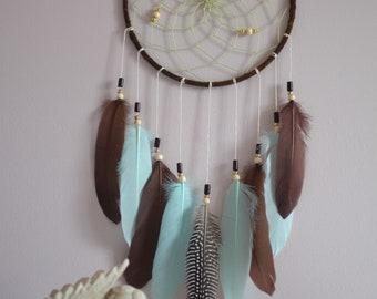 Dream Catcher Native American Style, Dreamcatcher Birthday Gift Idea< Boho Wall Hanging Decor< Dream Catcher Large, Brown Dreamcatcher