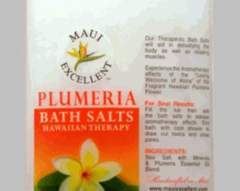 Plumeria Essential Oil Bath Salt