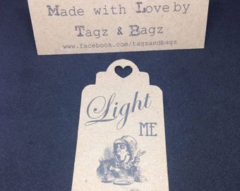 Alice in Wonderland themed Sparkler tags wedding favours/gifts
