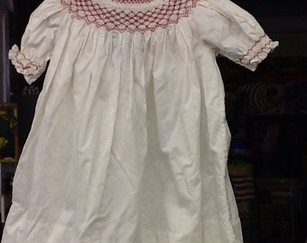 Vintage Girls Smocked Dress