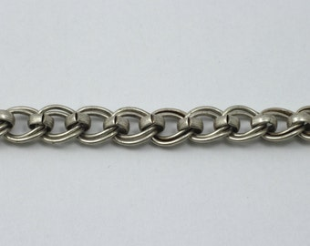 Antique Silver, 7mm x 6mm Double Oval Chain #CC169