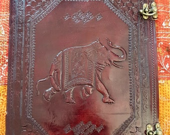 Large Leather Elephant Artist Sketch book with Artist paper