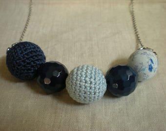 Necklace Pink/Blue Balls