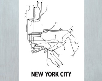Original NYC LinePoster - White/Black