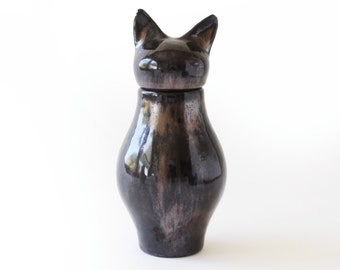 Basst Cat Urn- Black Copper