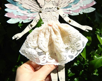 Fairy Paper Doll/ Angel Paper Doll/ Jointed Fairy Doll/ Fairy Decoration/ Angel Ornament/  Paper Art Doll/ Jointed Paper Doll/ Fairy Decor