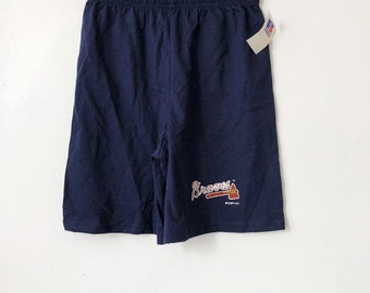 vintage atlanta braves shorts russell athletic youth size medium deadstock NWT 1992 made in USA