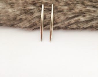 Silver Pointy Earrings, Sterling Silver Minimalist Earrings, Spike Earrings, Long Stylish Earrings, Anniversary Gift, Mother's Day Gift