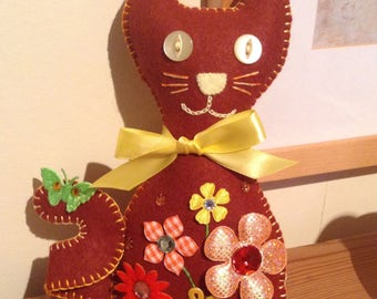 Felt Cat | Brown Cat