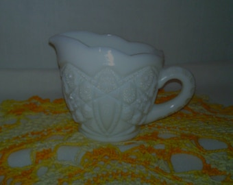 Vintage milk glass creamer