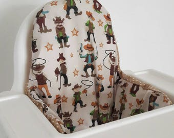 Antilop IKEA highchair cushion cover - cushion cover only - cowboy wild west polka dot gender neutral highchair cushion cover MADE to ORDER