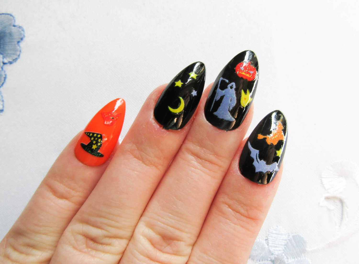 Contemporary Stiletto Nails Press On Collection - Nail Art Ideas ...