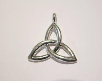 3 pendants / charms Celtic Trinity knot (triquetra)