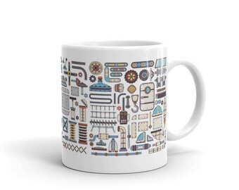 Colorful Steampunk Spare Parts Mug
