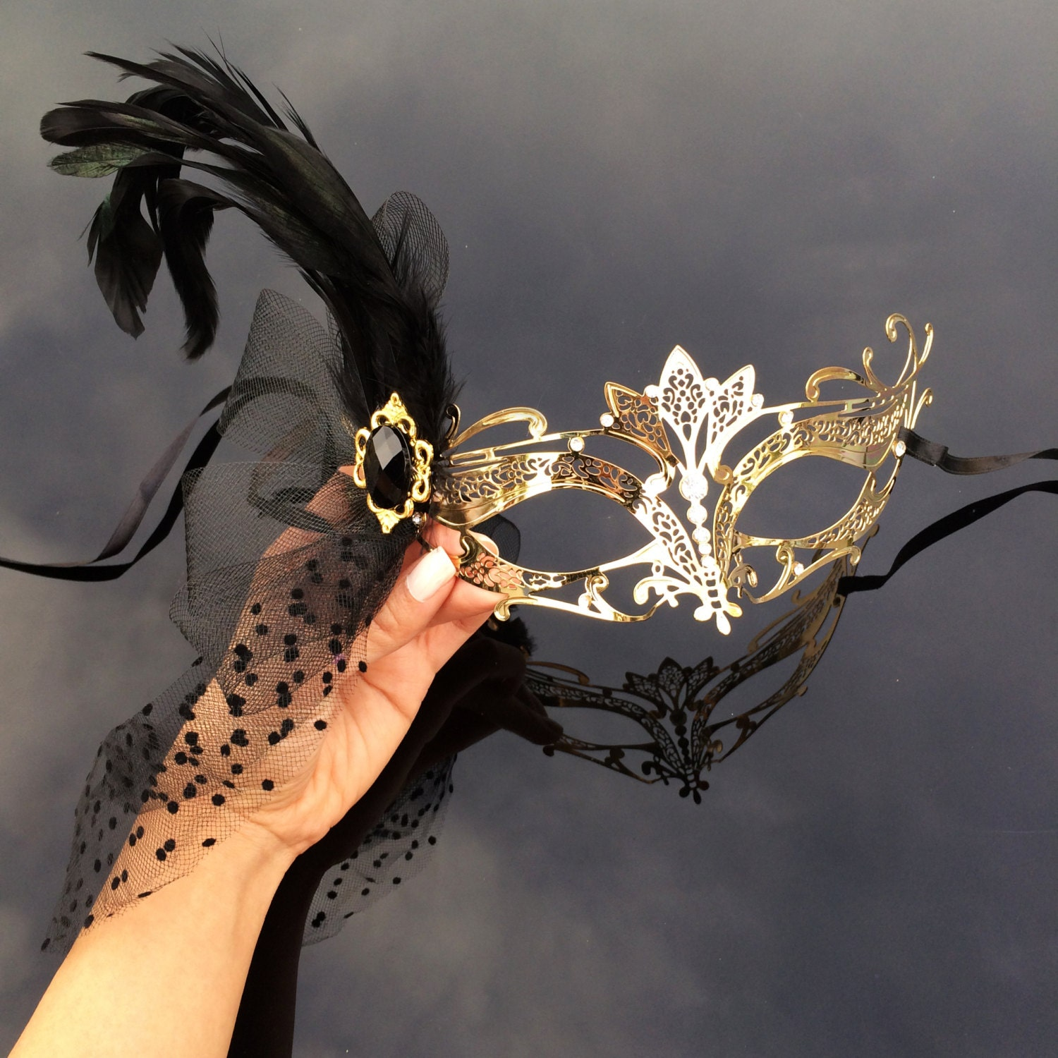 Feather Mask Masquerade The Great Gatsby Dress