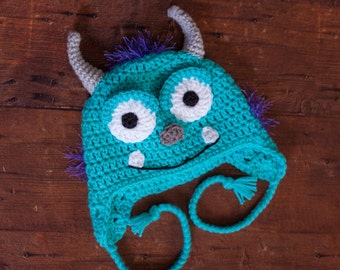 Monster hat - sully - Perfect for your little monster - Winter hat
