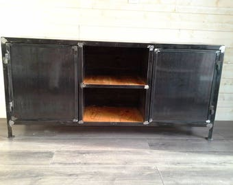 Furniture Cabinet 2 industrial steel doors