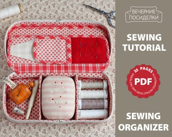 PDF Sewing Pattern, Sewing Tutorial, Travel Sewing Kit Pattern, Sewing Organizer Pattern (in English)