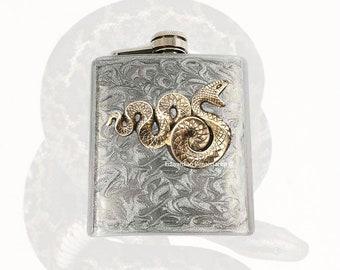 Serpent flacon incrusté dans peint émail tourbillon argent Design inspiration gothique victorienne de couleurs personnalisées à la main et personnalisé Options disponibles