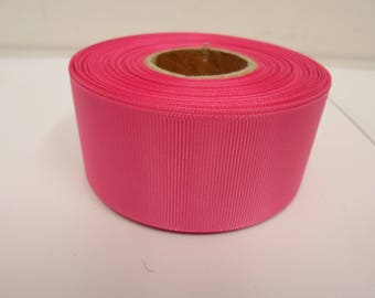 Grosgrain Ribbon 3mm 6mm 10mm 16mm 22mm 38mm 50mm Rolls, Hot, Bright Pink, 2, 10, 20 or 50 metres, Ribbed Double sided,