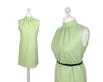 Lime Green Vintage Mini Dress | 1970's 70's Dress | Hardob Diolen Loft | Vintage Dress 16