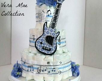 Guitar diaper cake Etsy
