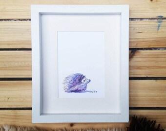 Baby Hedgehog // Watercolor Print