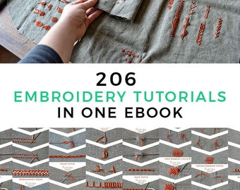 Embroidery Ebook - Embroidery Tutorial - Beginner Embroidery Pattern - How to Embroider - Step By Step Tutorial - Cross Stitch Patterns