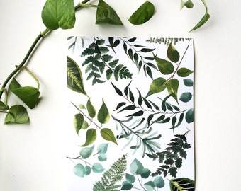 Botanical pattern print