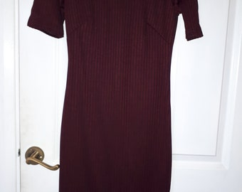 Tight fitted bugandy dress