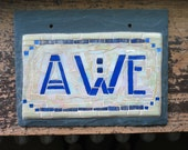 Awe Sign in Iridescent Cr...