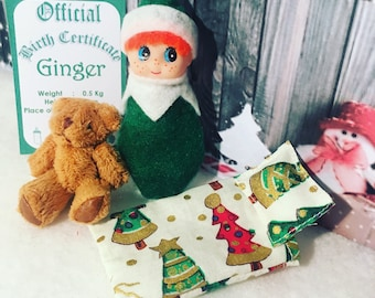 Baby Elf Ginger Doll The Shelf Sitter With Accessories
