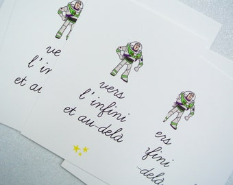 """Card """"to infinity and beyond"""" gift card love Valentine card Christmas card greeting - Valentine's day gift"""