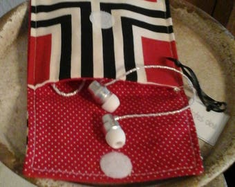 Tiny Tote-Black, White & Red